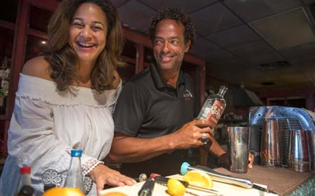 Downtown New Orleans is quiet, but Victory Bar still raises a toast for better times